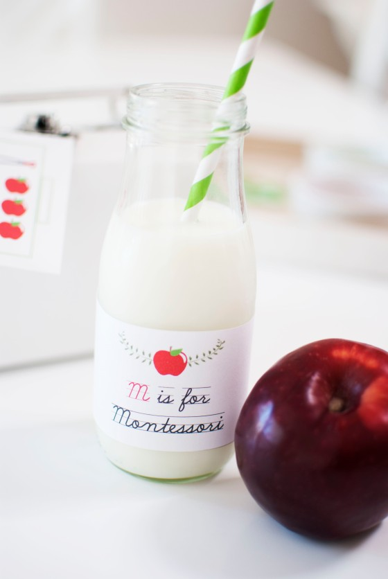 montessori drink labels